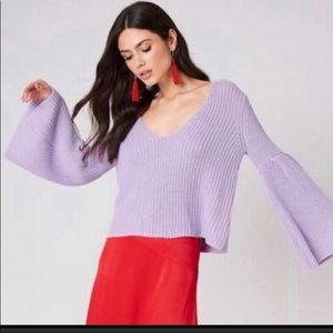 Free People Sweaters - Free people damsel in distress purple sweater